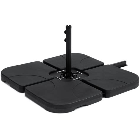 Offset Patio Umbrella Base Best Choice Products Patio 4 Cantilever Offset Umbrella Base Stand Black 816586025326 Ebay