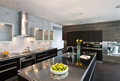 Modern Kitchen Design Ideas 2014 2014 Siyah Mutfak Modeli Dekorstore