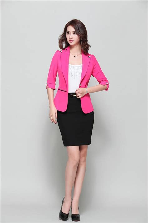 2015 women working suits novelty grey business women work wear suits blazers and