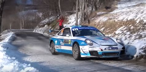 porsche boxster rally car porsche gt3 rs fearlessly attacks icy course rennlist