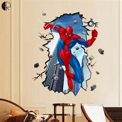 cool diy home decor cool spiderman 3d diy home decor wall stickers for