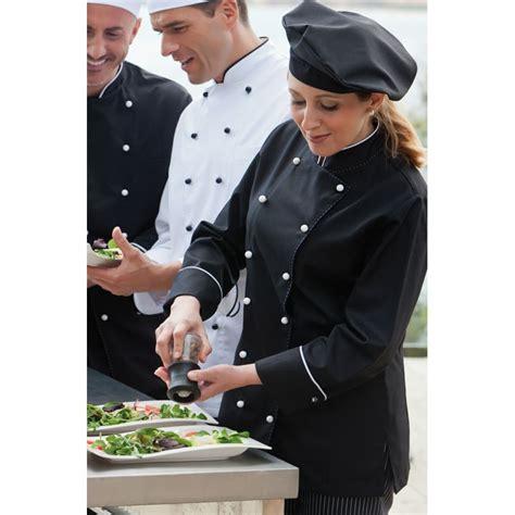 femme chef de cuisine veste chef de cuisine pour femmes manches longues