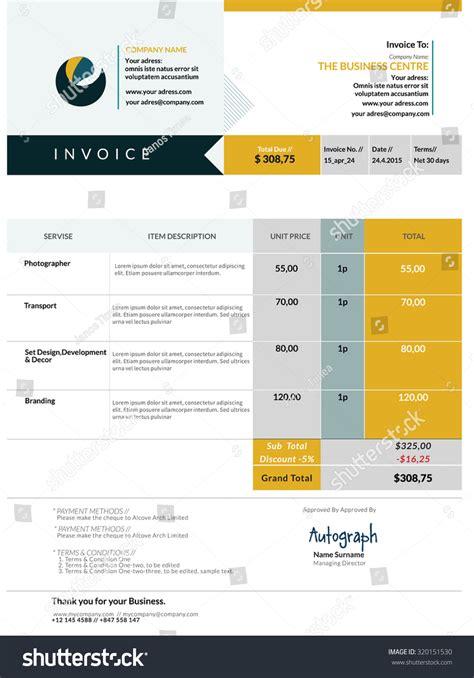 invoice design vector invoice template design stock vector 320151530 shutterstock
