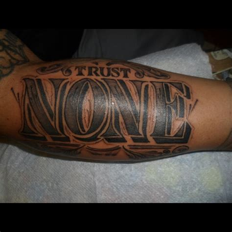 trust tattoo designs trust none artist aj tenorio