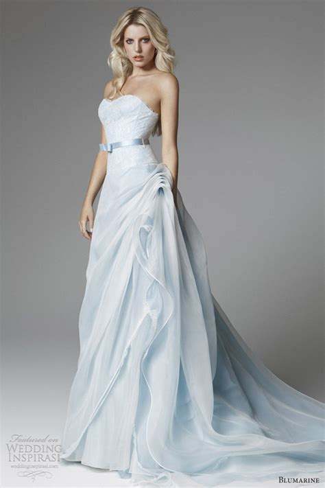 Light Blue Wedding Dress by Blumarine 2013 Bridal Collection Wedding Inspirasi