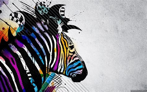 colorful zebra wallpaper colorful zebra creative wallpaper new hd wallpapers