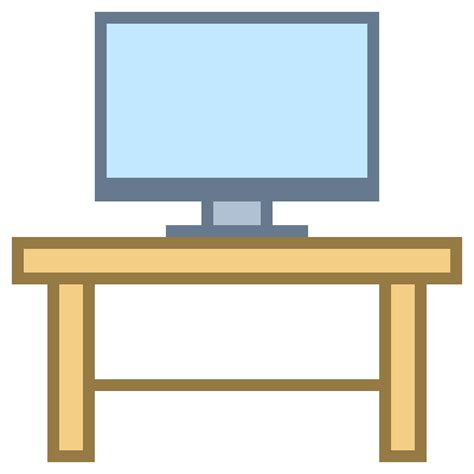 pc on desk icon free at icons8