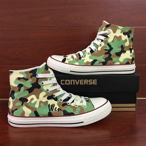 army pattern shoes army camouflage pattern custom design canvas shoes hand
