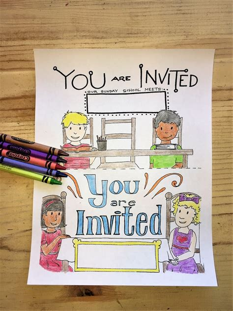 printable invitations to sunday school sunday school coloring pages children s ministry deals