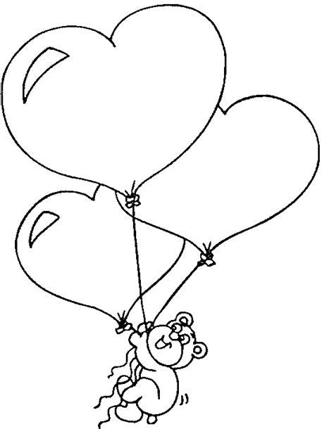 imagenes de corazones sin color oso volando con globos