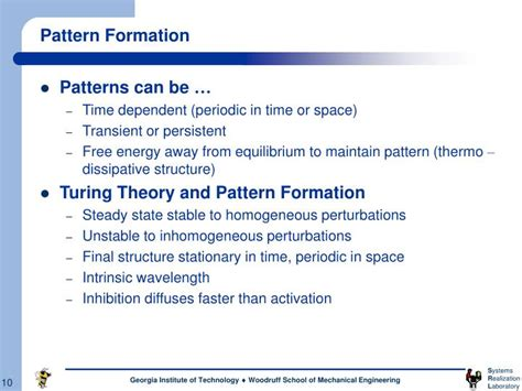 history of pattern formation theory ppt complexity theory powerpoint presentation id 1225599