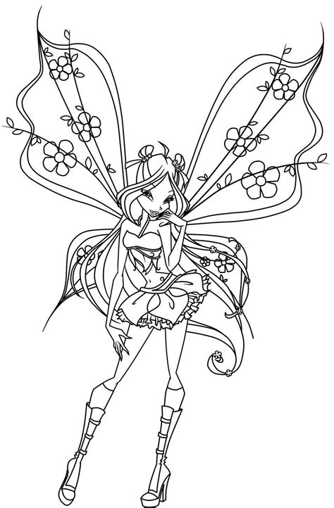 Winx Club Coloring Pages Winxclub Photo 18537763 Fanpop Winx Club Coloring Page
