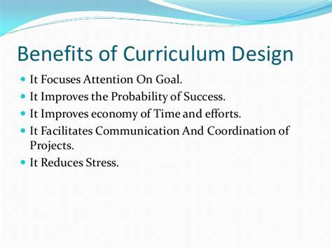 pattern of curriculum organization curriculum organization and design