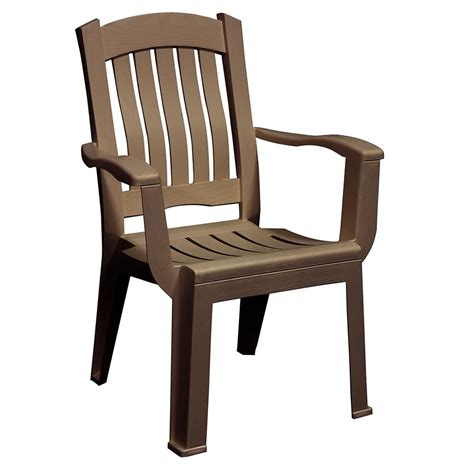 Stackable Patio Chair Shop Mfg Corp Earth Brown Resin Stackable Patio Dining Chair At Lowes