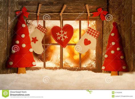 Weihnachtsdeko Fenster Stock by Weihnachten Verzierte Fenster Stockfoto Bild 57402046
