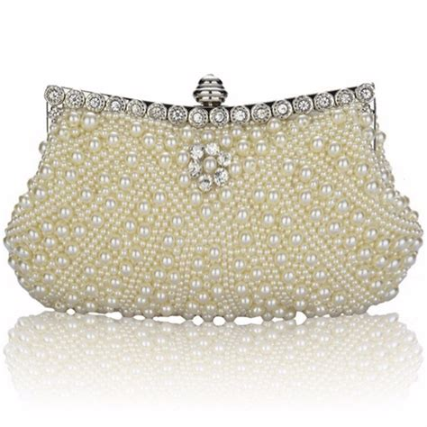 Handmade Evening Bags - luxury pearl handmade evening bag clutch