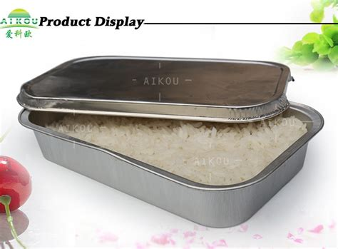 disposable aluminum foil food container buffet tray