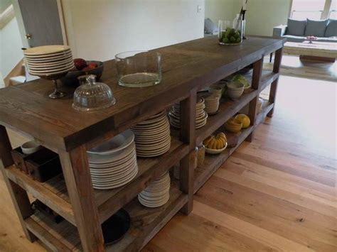counter height kitchen island in reclaimed wood 27 30 best images about ideas for reclaimed wood kitchen