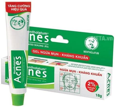 Acnes Sealling Jell gel ngừa mụn kh 225 ng khuẩn acnes acnes medicated sealing