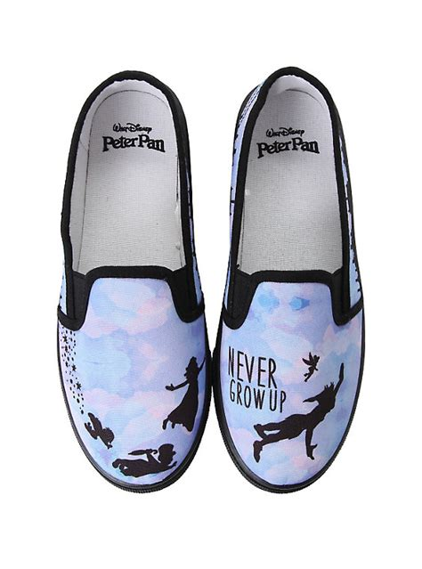 topic shoes disney pan never grow up slip ons topic