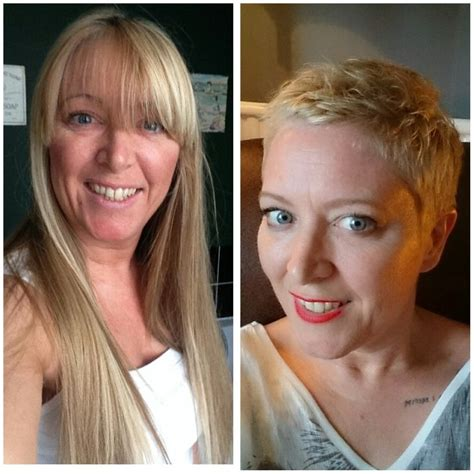 long hair to pixie cut before and after 81 best before and after cuts images on pinterest short