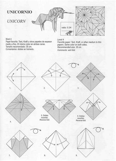 Tutorial Origami Unicorn   unicorn origami diy pinterest origami unicorns and