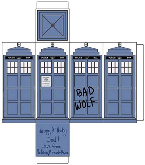 tardis paper template dr who pinterest