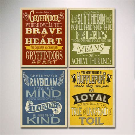 houses in harry potter harry potter house posters prints hogwarts houses prints