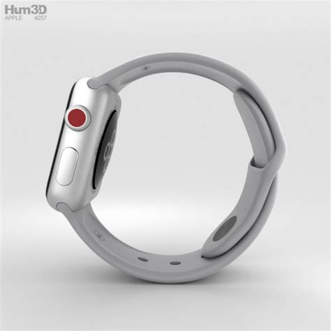 Apple Series 3 Gps 38mm Silver Fog Sport Band Limited apple series 3 38mm gps cellular silver aluminum fog sport band 3d model hum3d