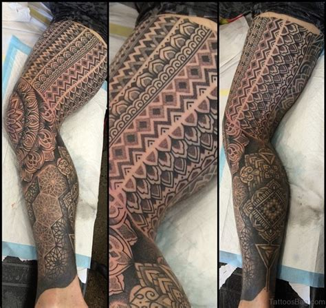 50 brilliant geometric tattoos on leg