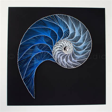 String Spiral - string nautilus yin yang abstract pattern