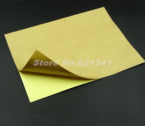 Printing On Craft Paper - a4 self adhesive brown kraft printing paper copy sticker
