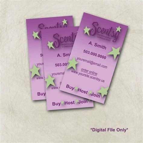 scentsy pyo business cards template scentsy business card templates scentsy business card