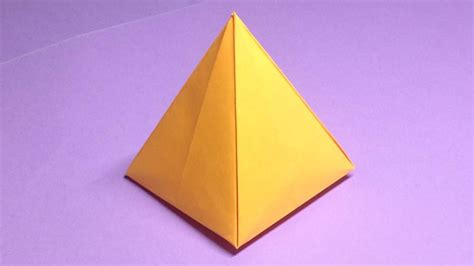 Pyramid Papercraft - how to make a paper pyramid easy origami pyramids for