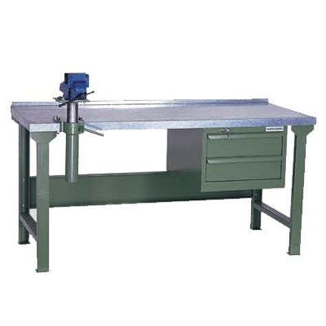 metal working bench heavy duty workbench with galvanised steel top wks 200