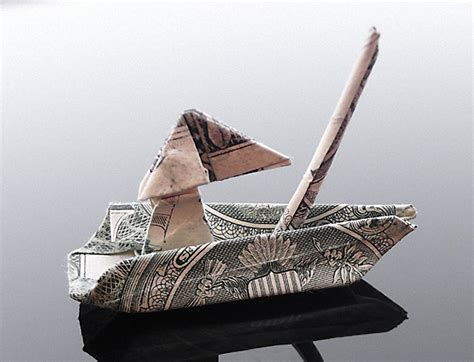 Money Origami Boat - moneygami the of money folding matador network