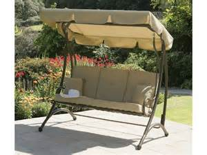Garden Treasures Patio Furniture Company by Cast Aluminium 3 Seater Swing Amp Canopy Swing Seats From Fads