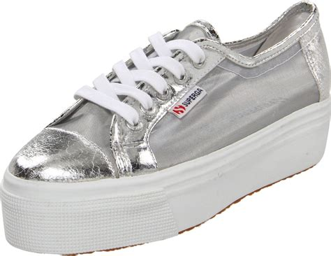 superga platform sneakers superga platform sneakers in silver lyst