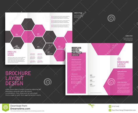 photography spread layout vector brochure layout design template stock photography