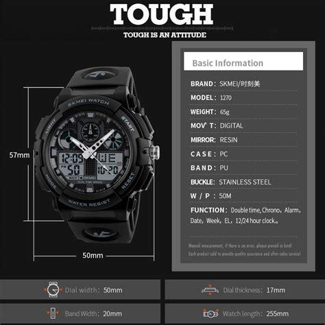 Jam Tangan Daniel Wellington Waterproof skmei jam tangan analog digital pria ad1270 black gold