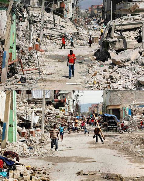 earthquake haiti haiti earthquake anniversary pictures show slow recovery