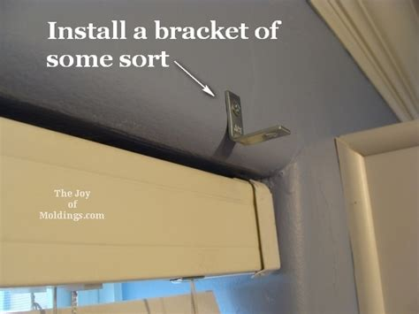 Cornice Mounting Brackets 1 Install Window Valance Cornice Box How To Diy The