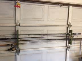 garage door fishing rod holder andy s fish place