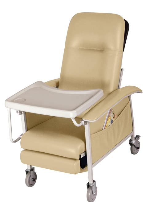 recliner with tray medline comfortez 3 position recliner cappuccino no