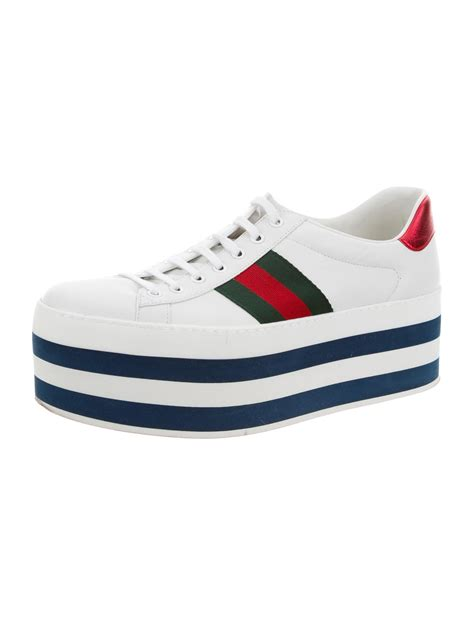Platform Leather Sneakers gucci new ace leather platform sneakers shoes