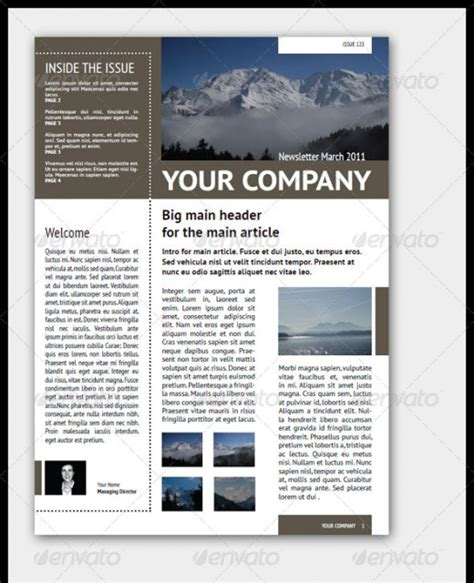 A Roundup Of Creative Premium Newsletter Templates Graphicsbeam Professional Newsletter Templates