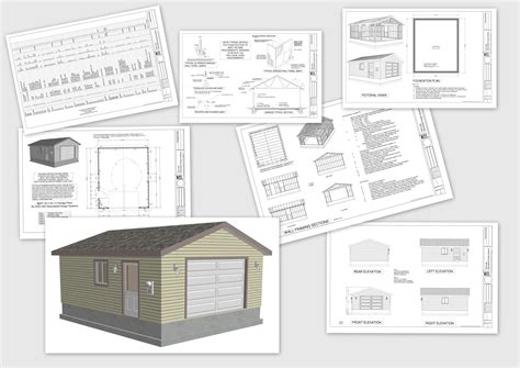 garages plans g507 20 x 24 x 8 garage plans 20 x 24 garage plans rv