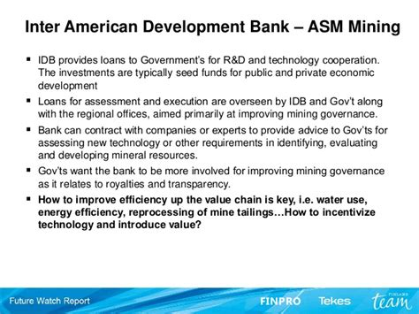 Inter American Development Bank Mba by Future Development Banks And Greenmining