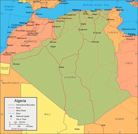 map of algeria cities tourism in algeria algeria map