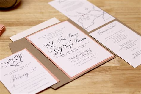 kxo design rustic wedding invitation with kraft pocketfold and custom map - Custom Pocketfold Wedding Invitations
